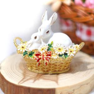 小さな宝石箱 ジュエリーボックス フレンズウサギ【チャーム付き】